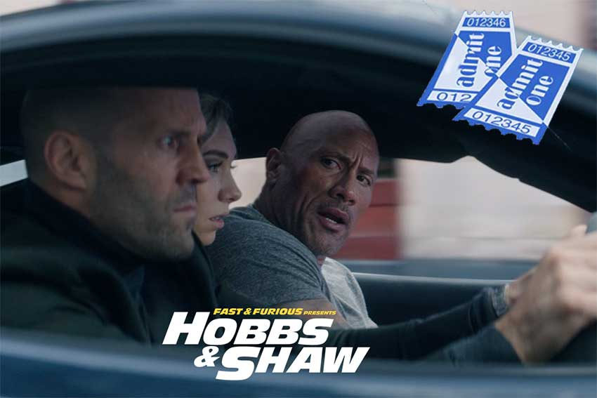 Fast and Furious Hobbs and Shaw 8 city giveaway