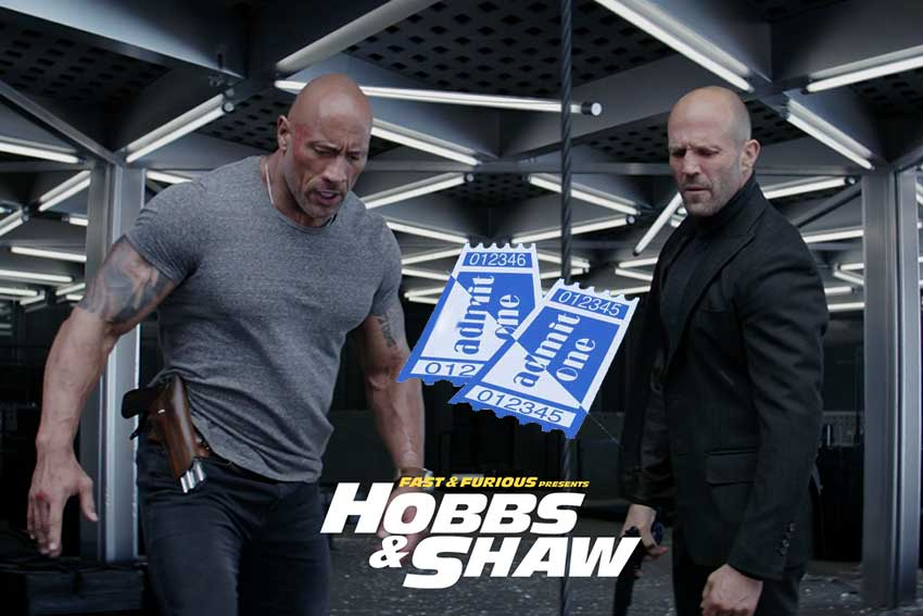 Fast and Furious Hobbs and Shaw giveaway