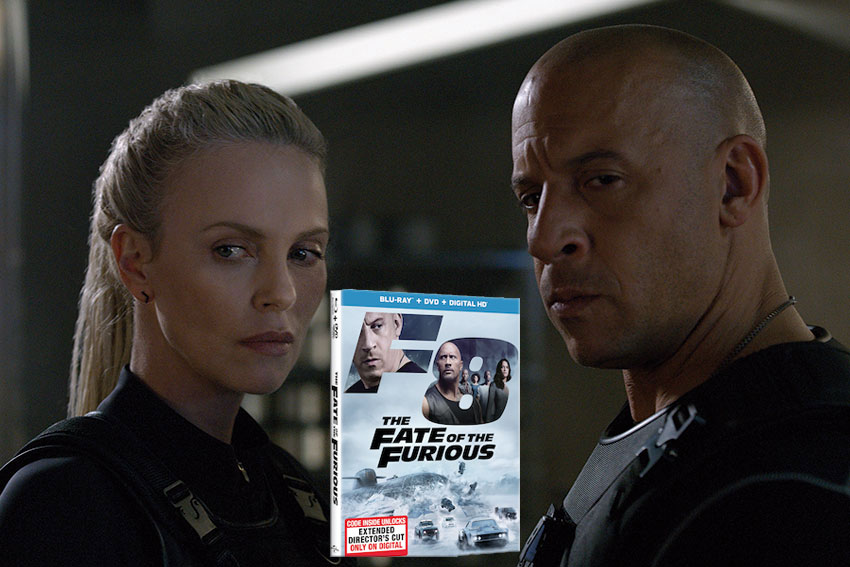 Fate of the Furious Vin Diesel Charlize Theron DVD giveaway