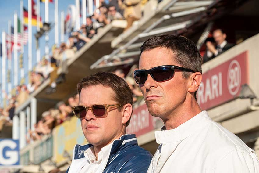 Matt Damon and Christian Bale in FORD V FERRARI