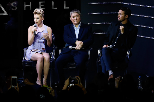 Ghost in the Shell Tokyo Event Scarlet Johansson Rupert Sanders