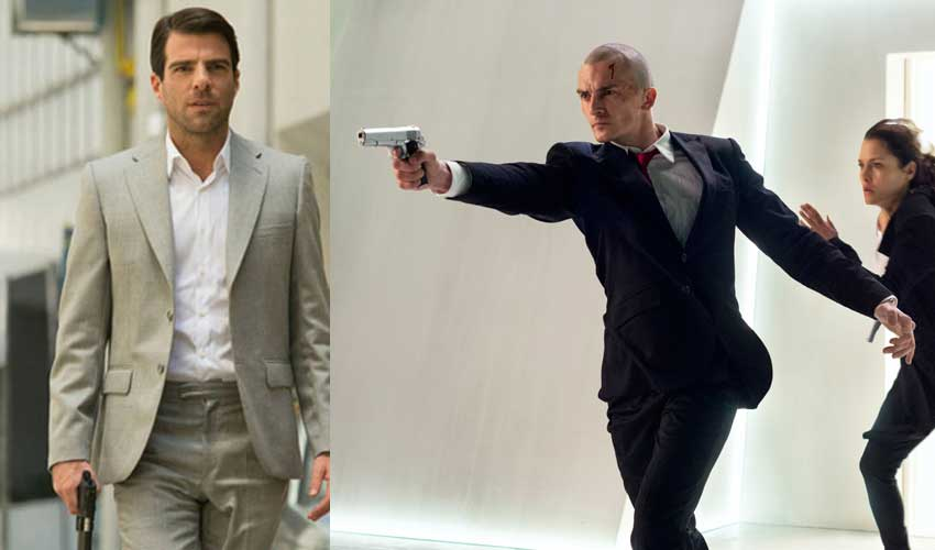 Hitman Agent47 Zachary Quinto, Rupert Friend and Hannah Ware