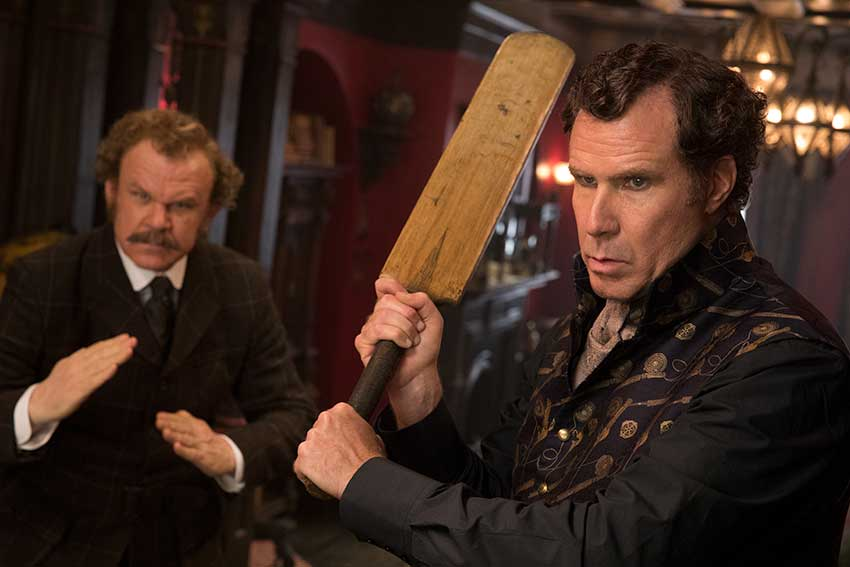 Holmes and Watson starring Will Ferrell and John C. Reilly
