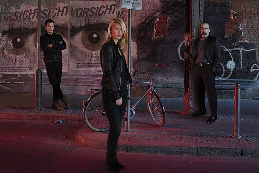 Homeland Season 6 Claire Danes, Rupert Friend and Mandy Patinkin