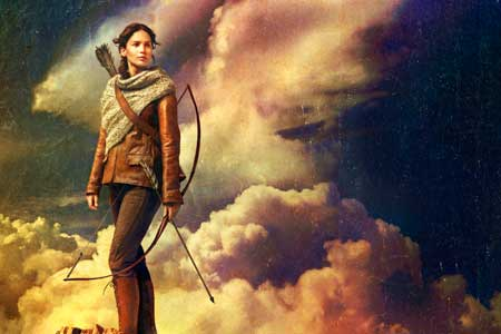 Jennifer Lawrence movie poster for The Hunger Games: Catching Fire Katniss new movie poster
