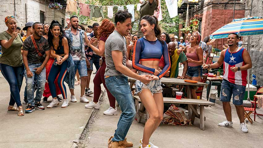 In The Heights movie Anthony Ramos Melissa Barrera