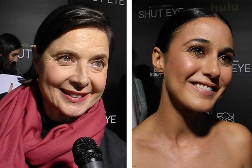 Isabella Rossellini Emmanuelle Chriqui Shut Eye Red Carpet