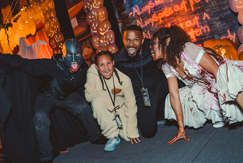 Jamie Foxx celebrated his daughter Annalise's birthday with a night of frights at