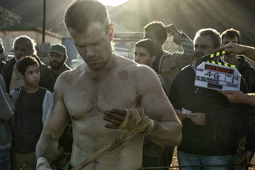 Jason Bourne Matt Damon Boxing style
