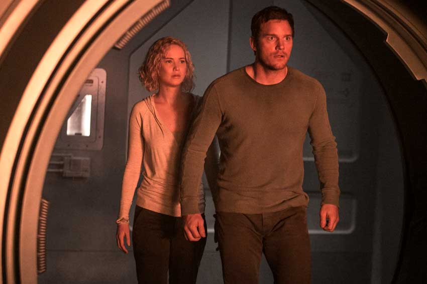 Jennifer Lawrence Chris Pratt Passengers movie