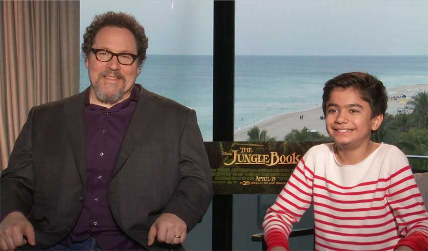 Jon Favreau and Neel Sethi The Jungle Book Interview