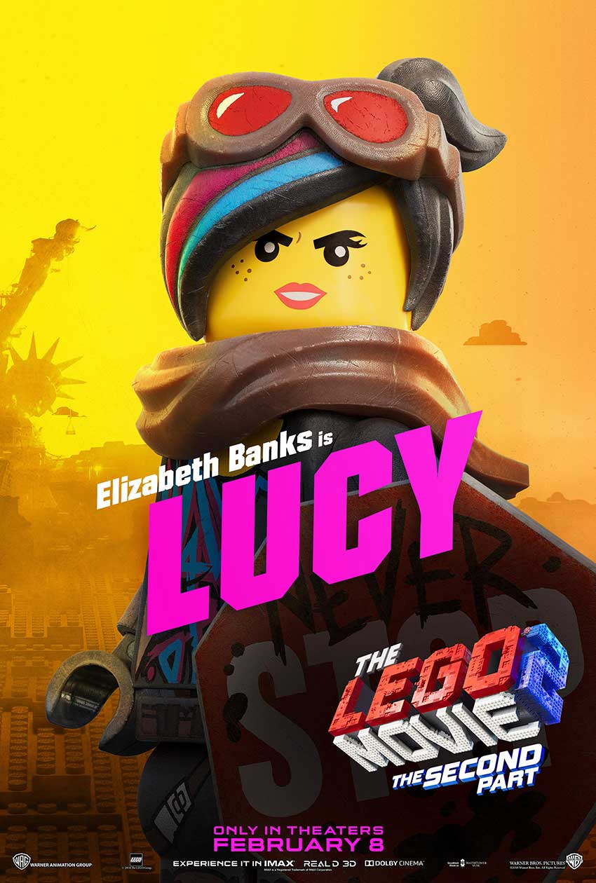 LEGO 2 movie LUCY character movie poster