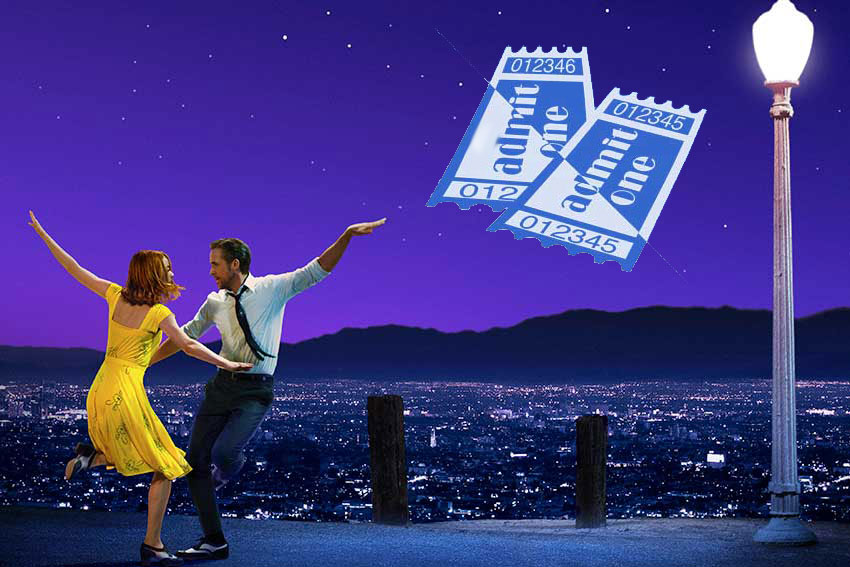 La La Land movie ticket giveaway