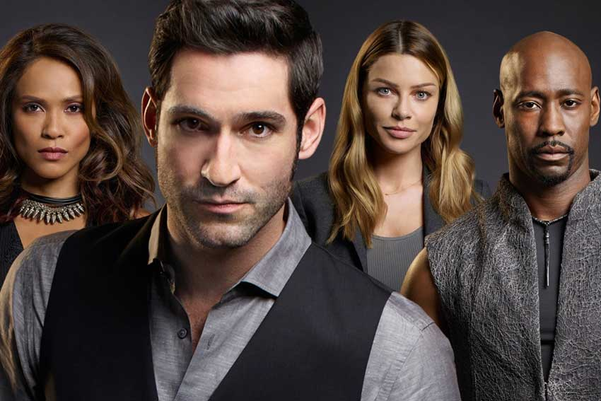Lucifer Tom Ellis, Lauren German, DB Woodside, Leslie Ann-Brandt
