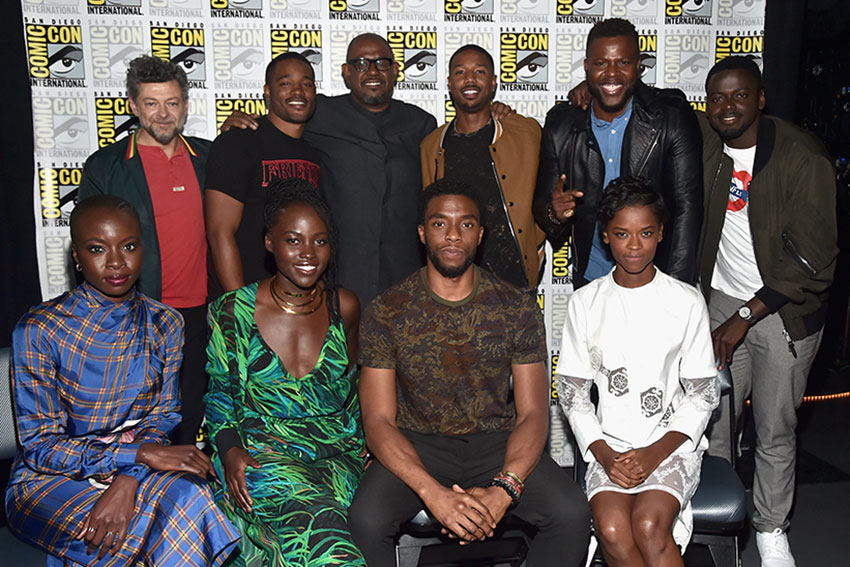 Marvel Black Panther Comic Con Cast