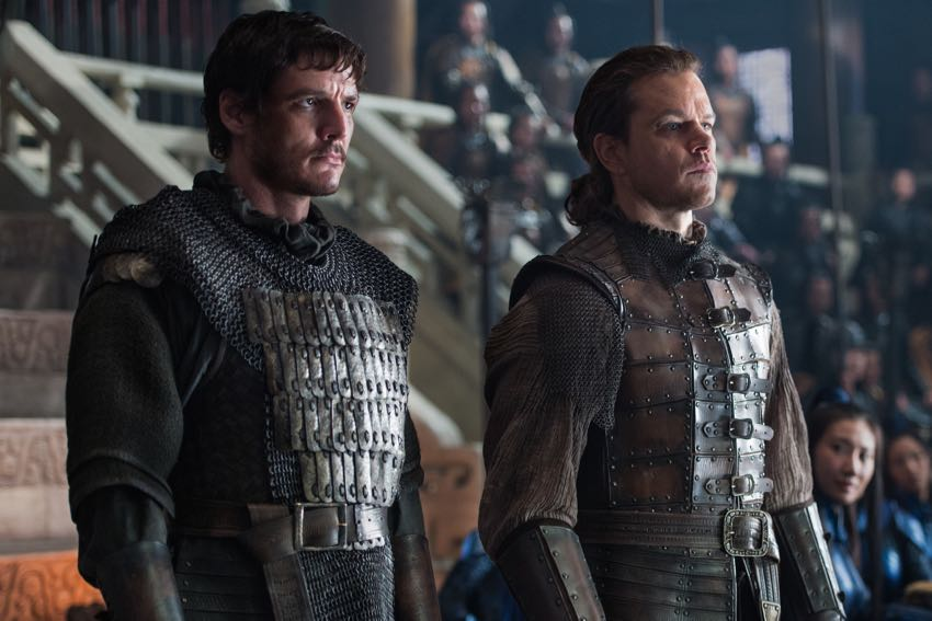 Matt Damon Pedro Pascal The Great Wall