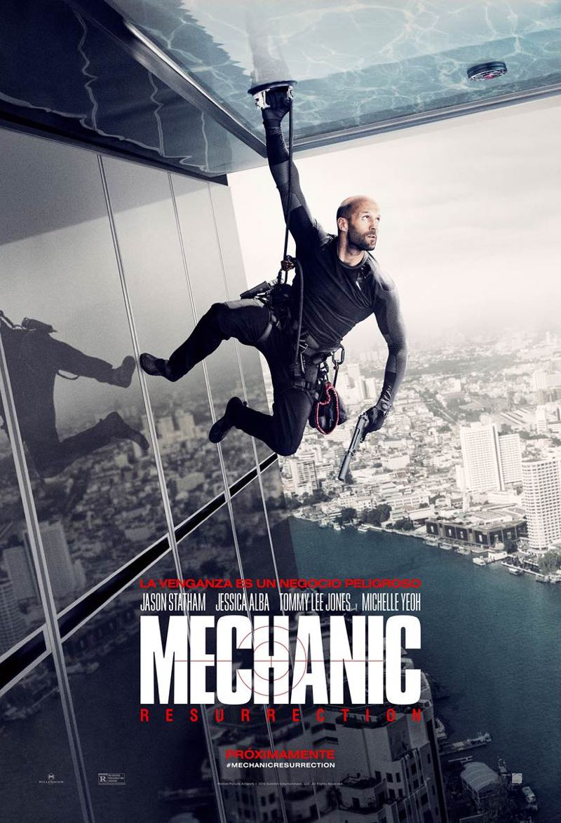 Mechanic Resurrection Spanish movie poster