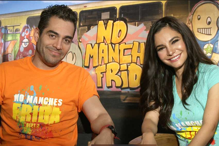 Omar Chaparro and Martha Higareda in NO MANCHES FRIDA 2