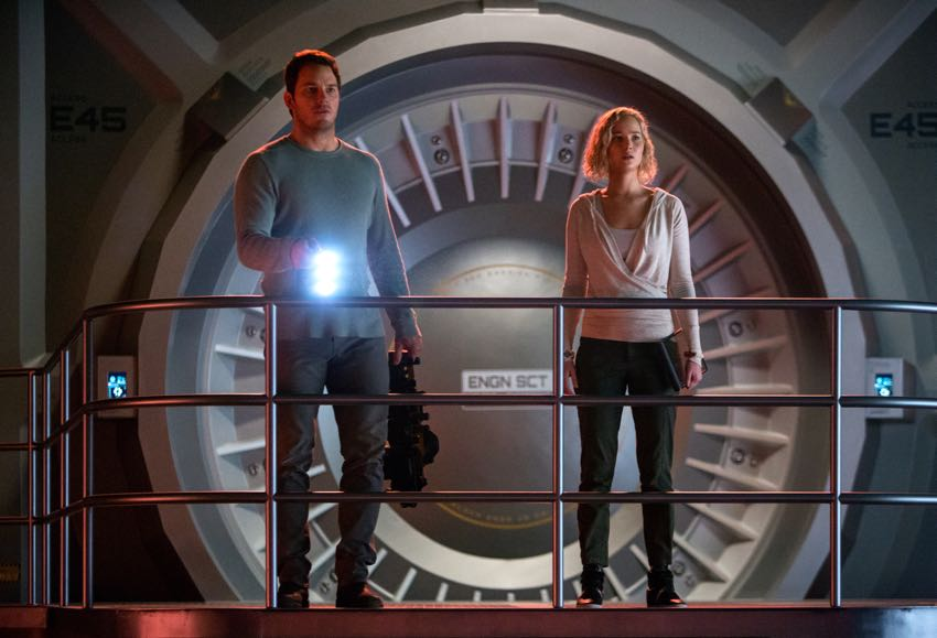 Passengers Chris Pratt Jennifer Lawrence 1