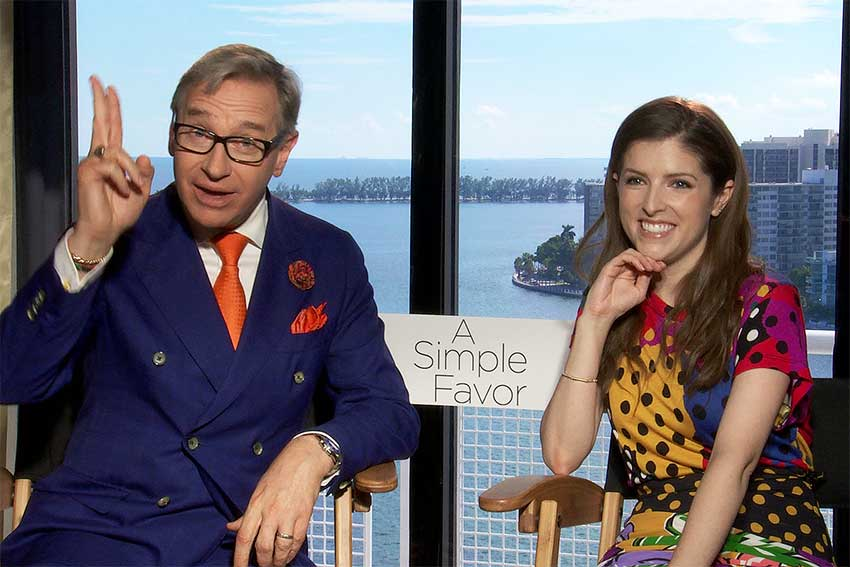 Paul Feig Anna Kendrick A Simple Favor CineMovie Interview