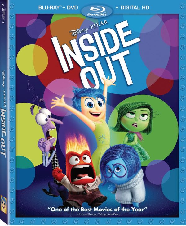 Pixar Inside Out Bluray DVD