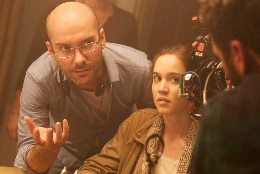 Rings Director Javier Gutierrez on set