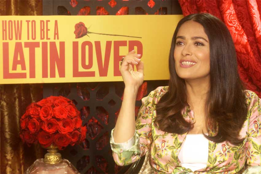 Salma Hayek How To Be Latin Lover interview