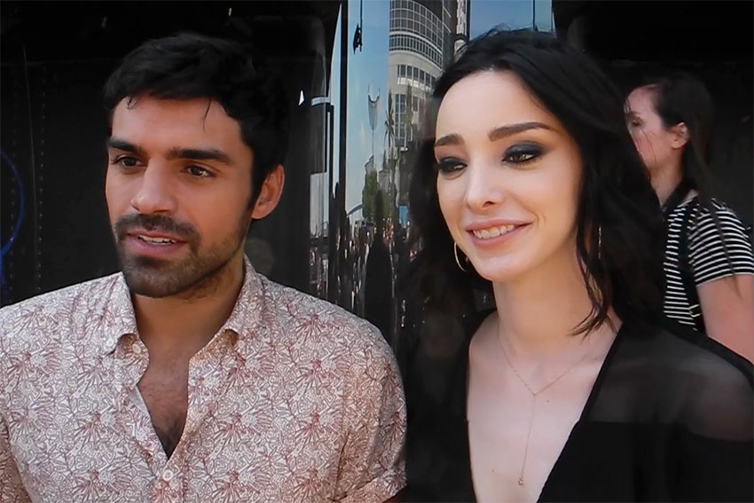 Sean Teale Emma Dumont The Gifted Show interview