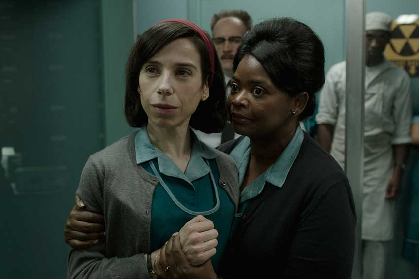 Shape Of Water Sally Hawkins and Octavia Spencer in the film
