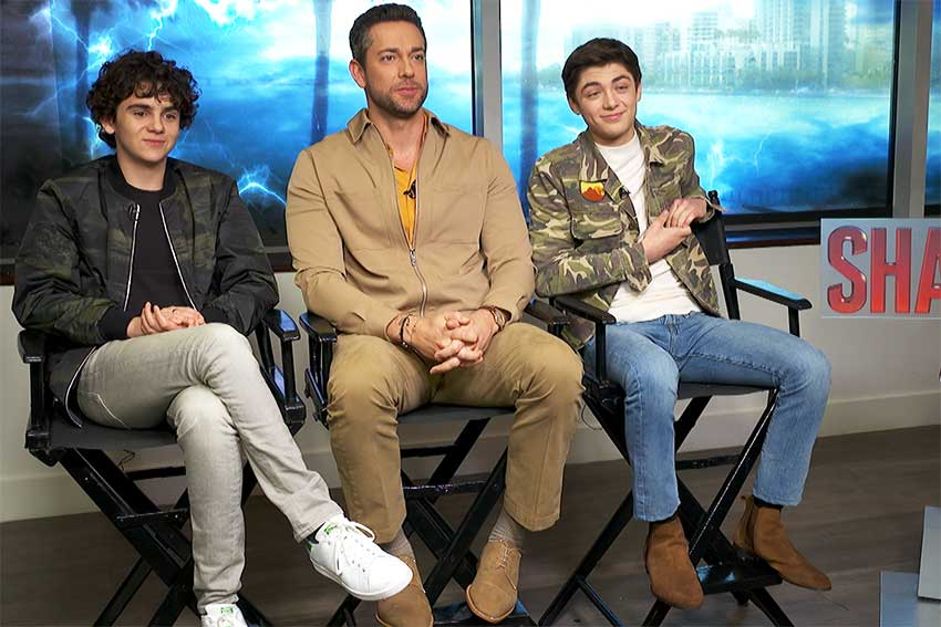Shazam interview Zachary Levi Asher Angel Jack Dylan Grazer
