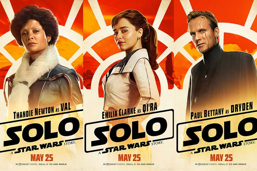 Solo Star wars Story character posters