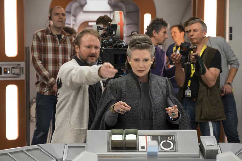 Star Wars The Last Jedi on set