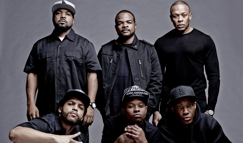 Straight Outta Compton movie interview wtih Ice Cube, F. Gary Gray, DJ Yella and Cast