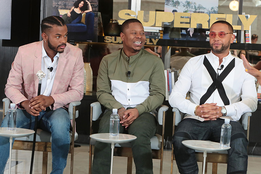 Superfly Trevor Jackson Jason Mitchell Director X at LA Press Conference