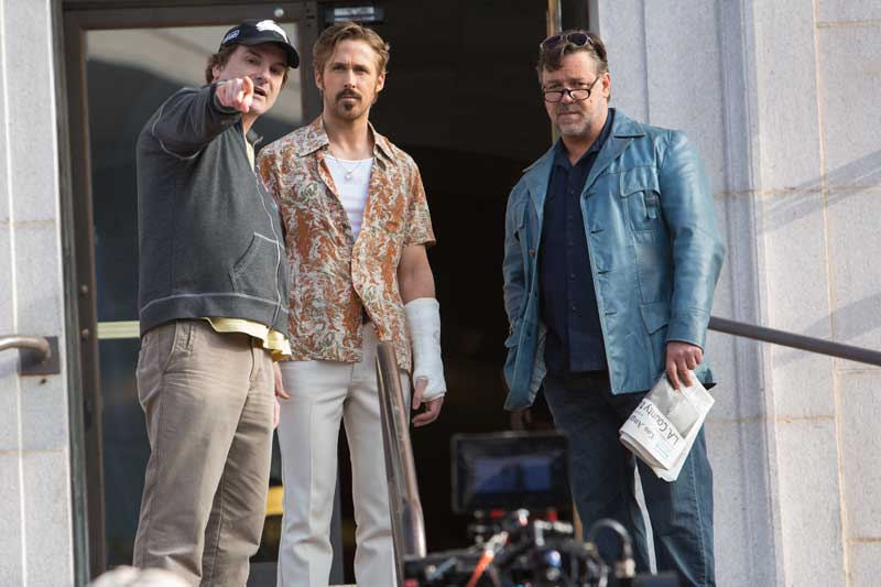 The Nice Guys set ShaneBlack RussellCrowe