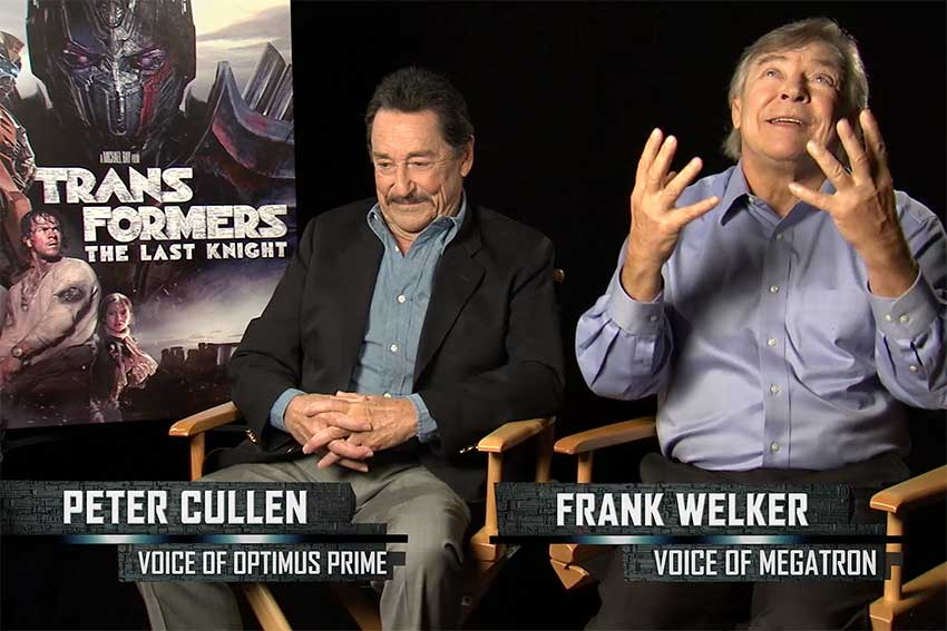 Transformers Peter Cullen Frank Welker Interview