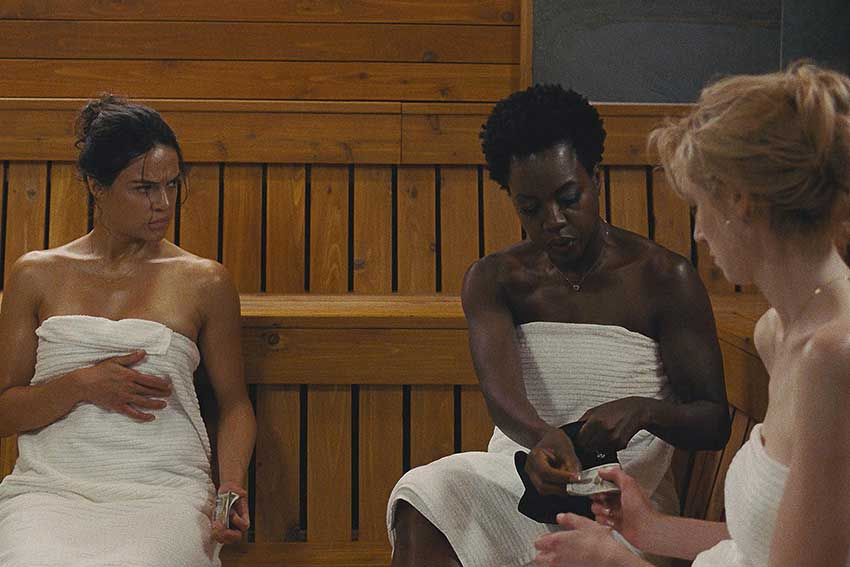 Widows movie MichelleRodriguez ViolaDavis ElizabethDebicki