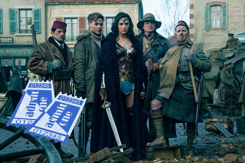 WonderWoman Gal Gadot ticket giveaway