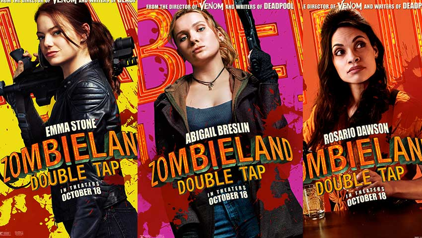 Zombieland Double Tap character movie posters
