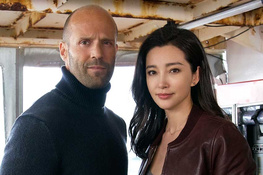 The Meg stars Jason Statham and Bingbing Li