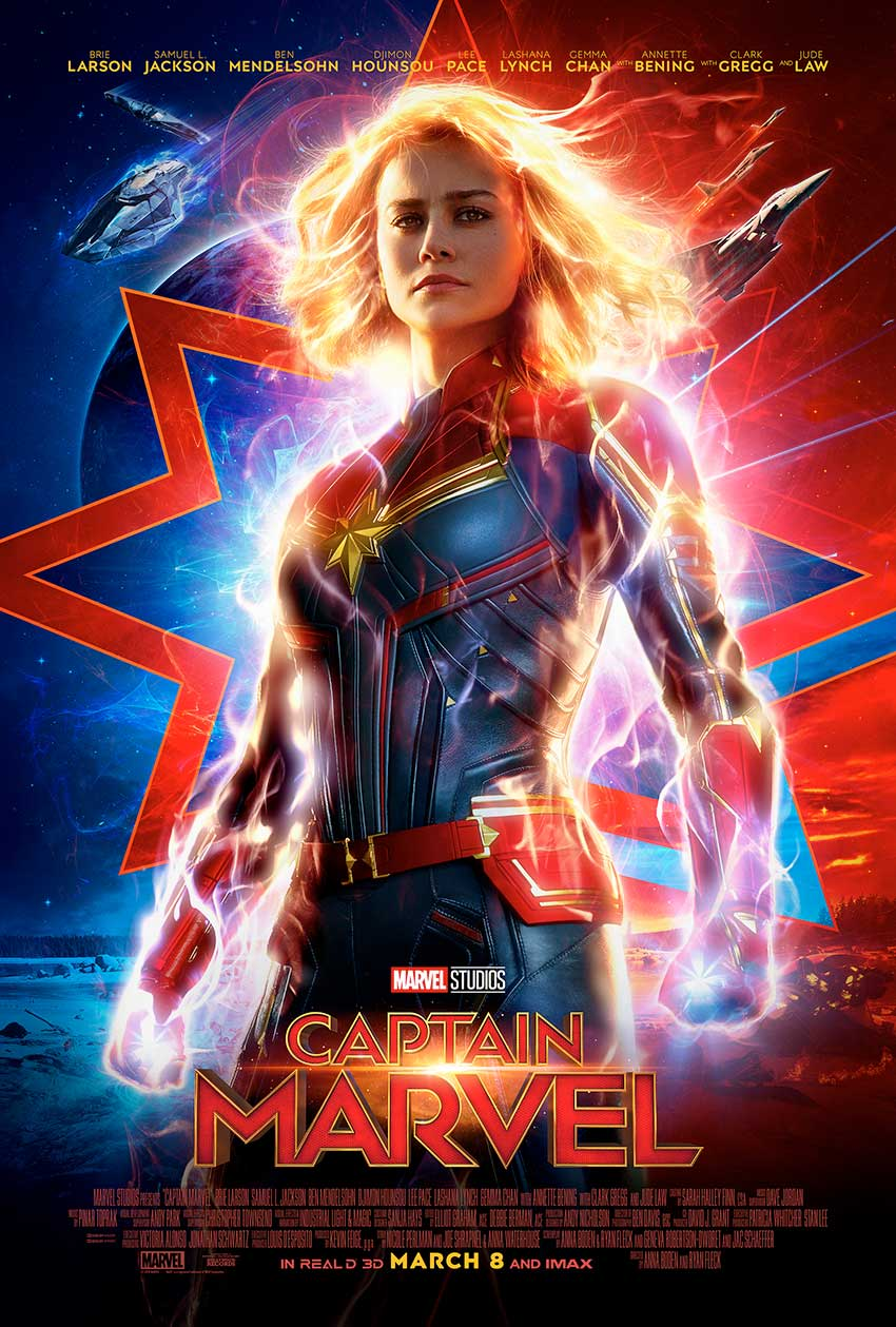Captain Marvel Brie Larson movie poster
