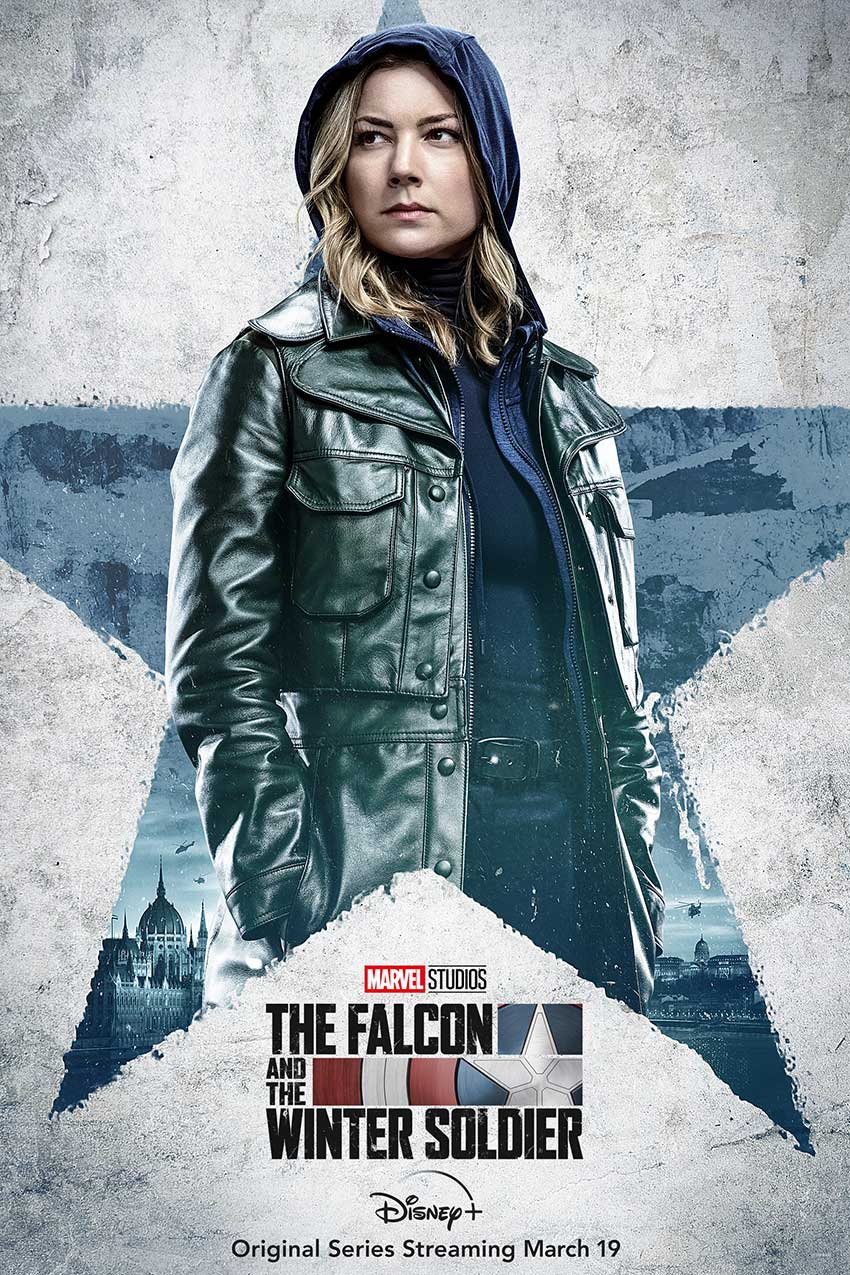 Falcoln and Winter Soldier character poster Emily VanCamp
