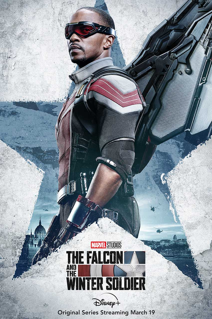 Falcoln and Winter Soldier character poster Sam Wilson