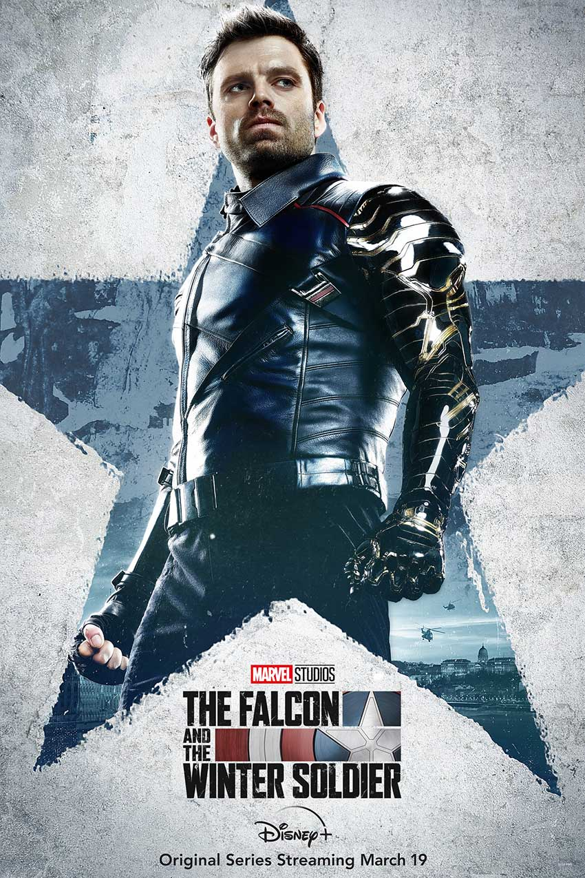 Falcoln and Winter Soldier character poster Sebastian Stan