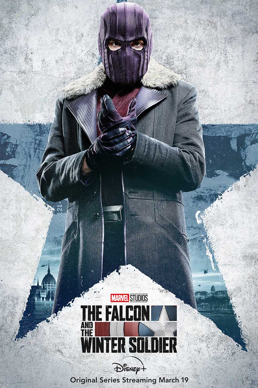 Falcoln and Winter Soldier character poster Zemo